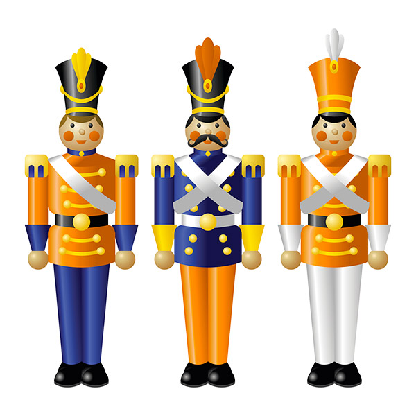 Toy soldiers in a line